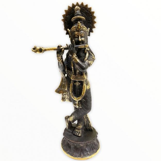 Статуэтка из бронзы Кришна 26см