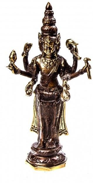 Грозная и воинственная богиня Кали бронза 22