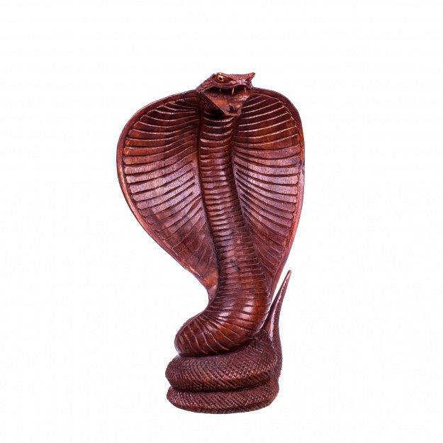 Скульптура из дерева Кобра 30 см.