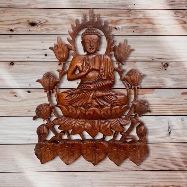 Панно резное Будда -  для душевного равновесия 35см