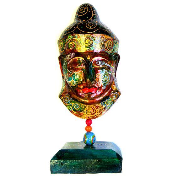 Голова Будды 50х20см статуэтка, дерево