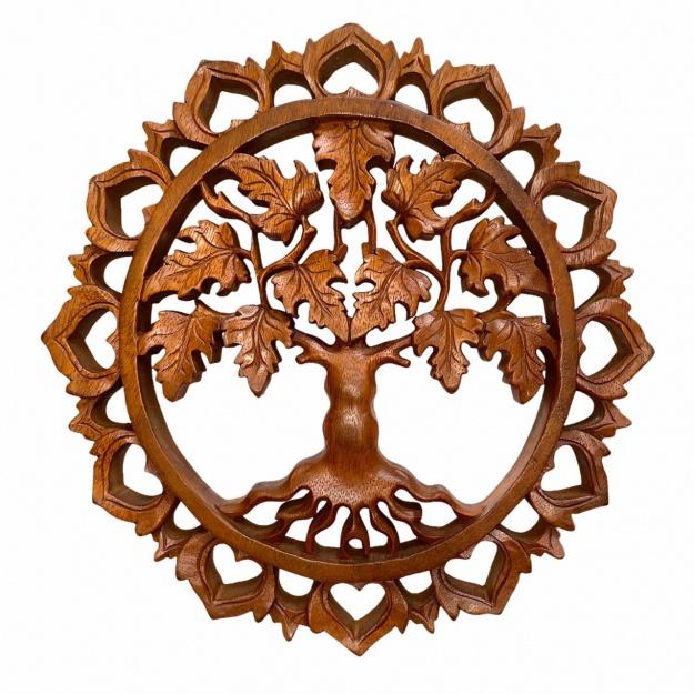 Круглое панно Клен (дерево жизни) 25 см
