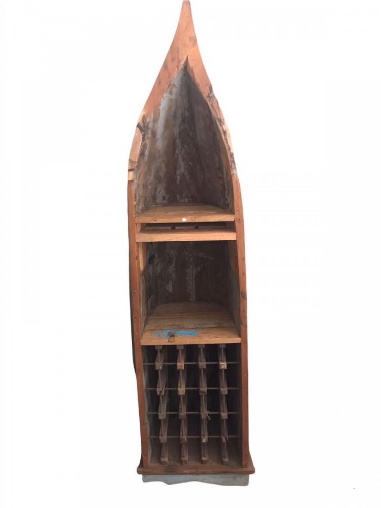Лодка- бар из тика 218х38х37 см - единственный экземпляр