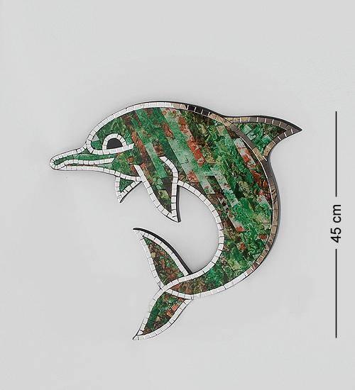 """Панно """"Дельфин"""" 45cm. (мозаика, о.Бали)"""