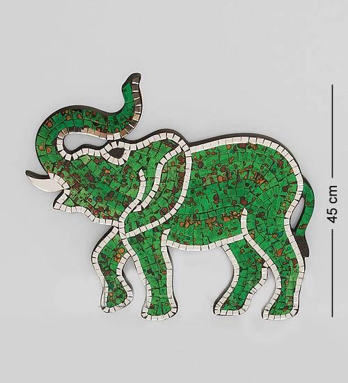 """Панно """"Слон"""" 45cm (мозаика, о.Бали)"""