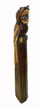 """Статуэтка """"Филин"""" 100см.из дерева Альбиция"""