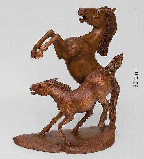 "Фигура Лошадей ""Вместе Навсегда"" 50см о.Бали"