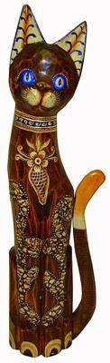 Статуэтка 'Кот красавец в цветах' 60см.