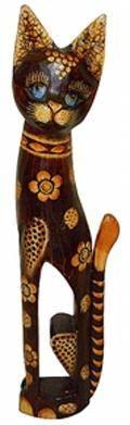 Статуэтка 'Кошка в цветах' 60см.