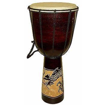 Музыкальный инструмент барабан 50см. резьба по дереву
