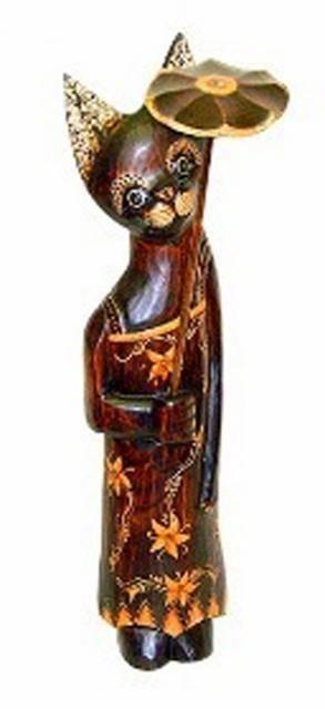 Статуэтка 'Кошка Московия с зонтом' 80см.