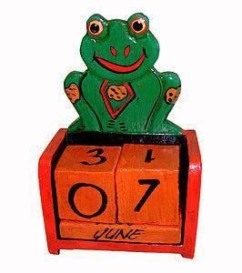 Календарь настольный Лягушка 10х13см