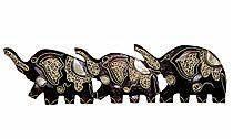 Панно из трех слонов, 50см.