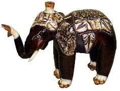 """Деревянная статуэтка """"Слон индийский"""" 28х24см."""