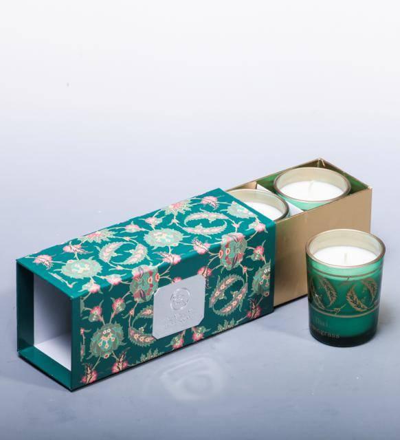 """Набор из 3 свечей аром. """"Тайский лемонграсс"""" в подарочной коробке"""