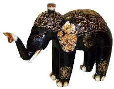 """Резная статуэтка """"Слон индийский"""" 22х20см."""