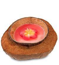 Свеча в натуральном кокосе