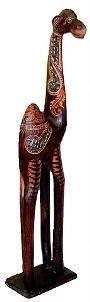 """Статуэтка интерьерная """"Верблюд"""" 120см. дерево албезия, авторская резьба, роспись, мозаика"""