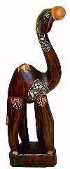 """Статуэтка интерьерная """"Верблюд"""" 40см. авторская резьба, роспись в стиле антик"""