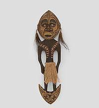 """Панно из дерева """"Абориген Папуа"""" 55см"""