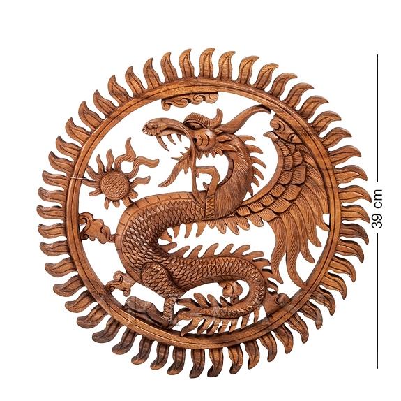 Панно резное Дракон 40 см