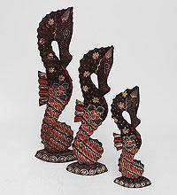 "Фигурка ""Морской конек"" (батик, о.Ява) набор из 3-х, фиол. 50см"