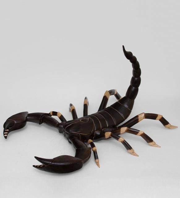 """Фигурка """"Скорпион"""" (албезия, о. Бали) 50cm."""