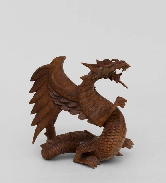 """Статуэтка """"Крылатый дракон"""" 15 см суар"""