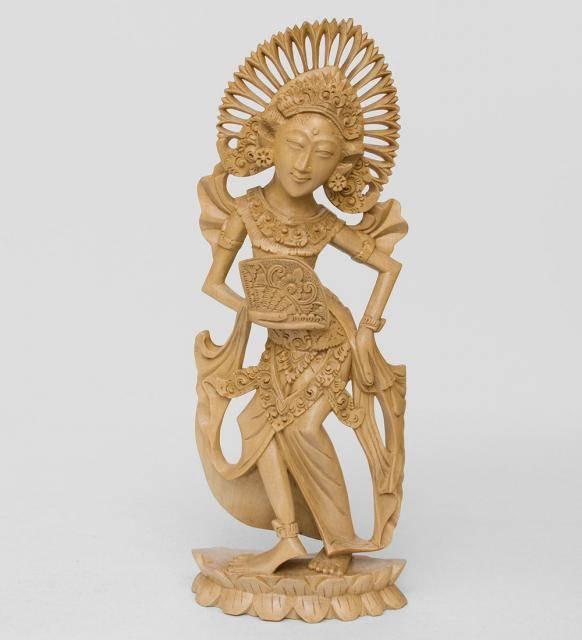"""Статуэтка """"Балийская танцовщица"""" крокодиловое дерево"""