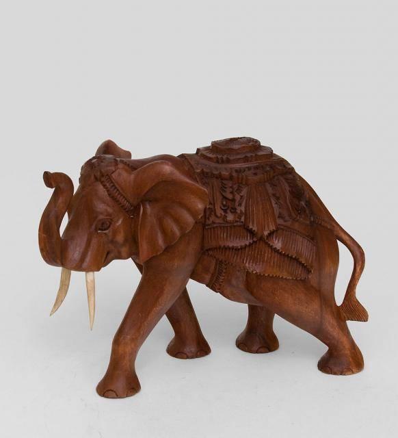 Статуэтка слона с поднятым хоботом суар 27 cm