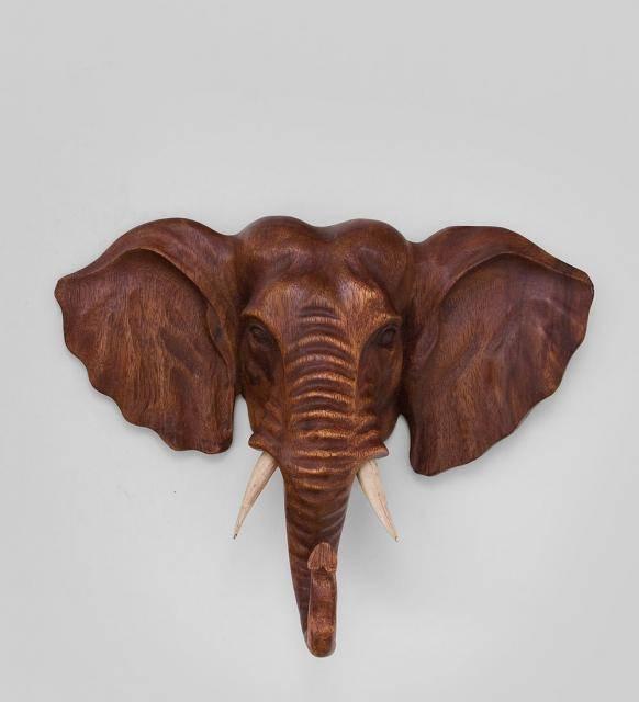 """Панно резное""""Индийский слон""""  30 см"""