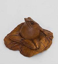 """Фигура из дерева """"Лягушка на листе"""" 10 см"""