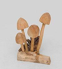 """Статуэтка из дерева """"Поганки"""" 11 см"""