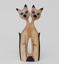 """Статуэтка """"Кошки - двое из ларца""""  суар 30см"""