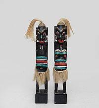 Статуэтки Парочка ряженых асматов, 50см