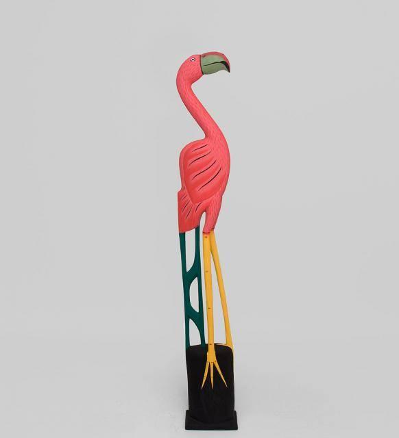 "Интерьерная фигура ""Яркий фламинго"" 100см"