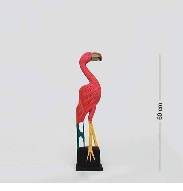 "Фигурка птицы ""Розовый Фламинго"" 60 см"