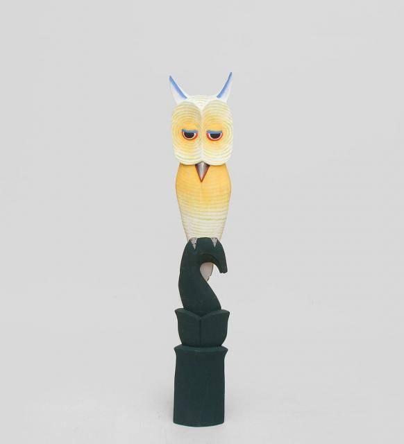 """Цветная статуэтка """"Сова желтая"""" 60см"""