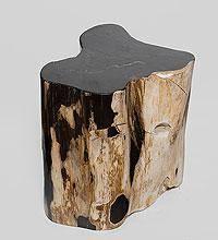 """Табурет из окаменелого дерева """"Хранящий память"""" 45 см 90кг"""