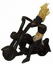 Фигурка аборигена Асмат 'Байкер' 16х22см.