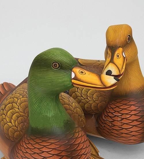 """Фигура деревянная утки """" 33 см. (о.Бали)"""