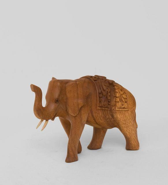 """Статуэтка из дерева """"Слоник"""" 12 см"""