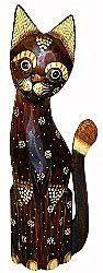 Фигурка Котика Мурлычок - дерево 60см.