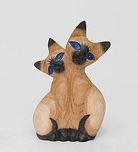 """статуэтка """"влюбленные кошки"""" суар 24см"""