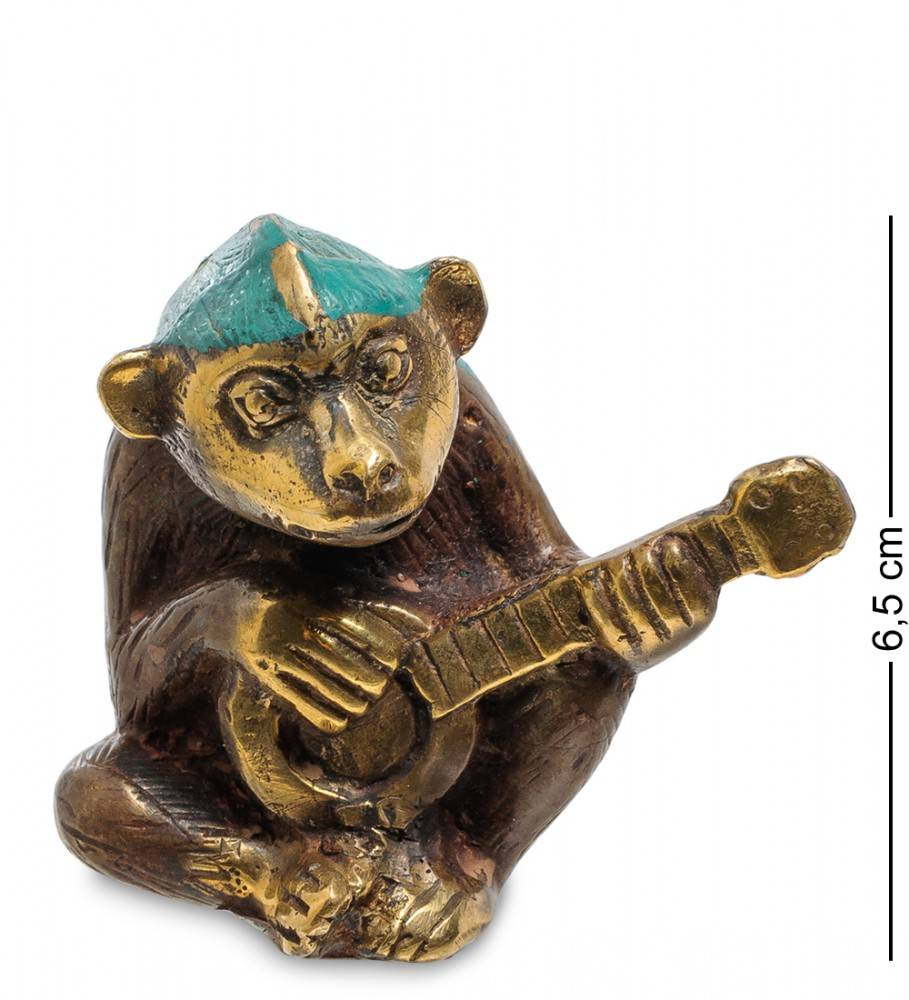 "Фигура Обезьяна ""Игра на гитаре"" бронза (о.Бали)"