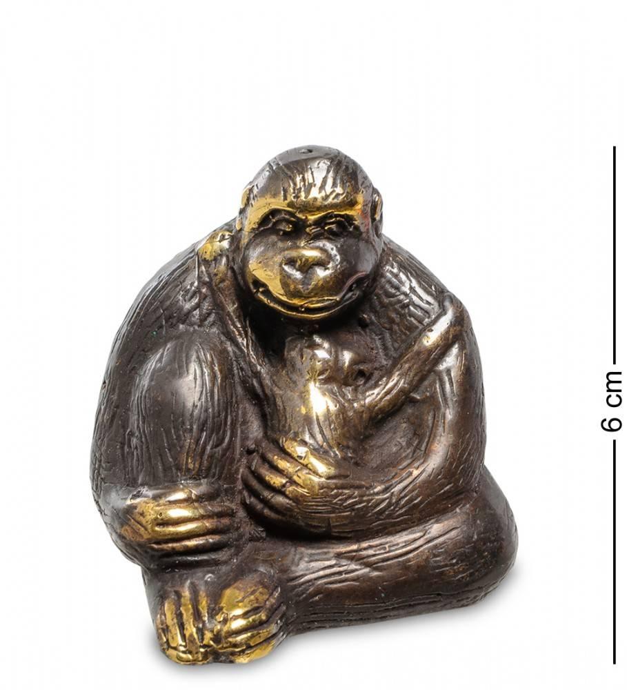 """Фигура """"Горилла"""" бронза (о.Бали) 6 см"""