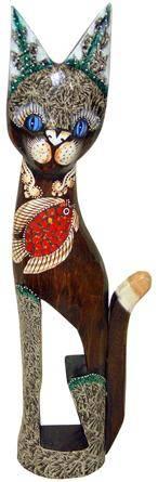 Статуэтка 'Кот с рыбкой' 60см.
