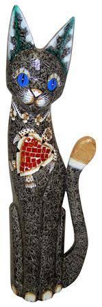 Дизайнерская фигурка 'Кошки' с мозаикой 80см.