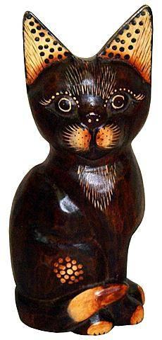 Фигурка из дерева 'Кот Бука' 30см.