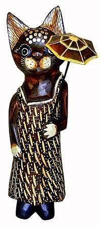 Фигурка 'Кошка под зонтиком' 40см.